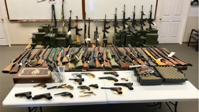 California man arrested with 60 firearms in underground