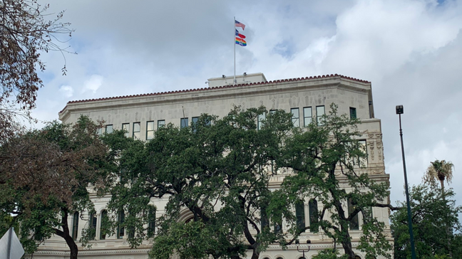 For the first time in San Antonio history, Pride version of city flag flies over City Hall | KABB