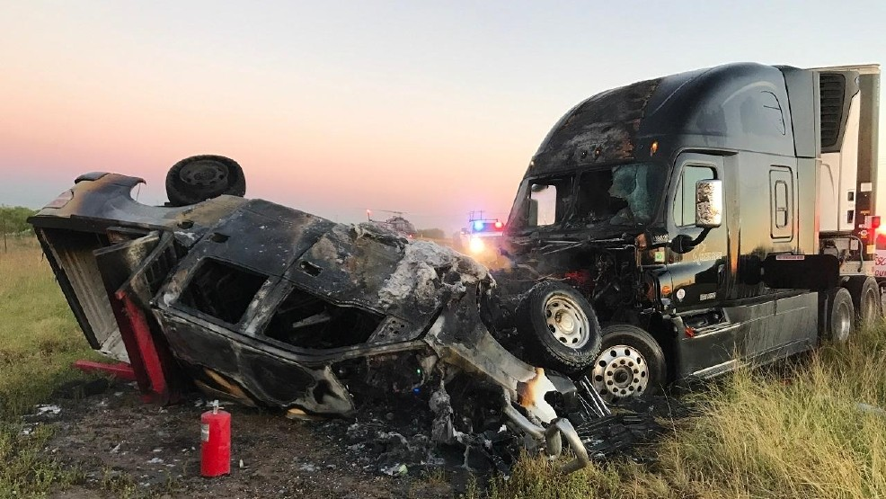 One injured in fiery head-on crash in Dimmit County | KABB