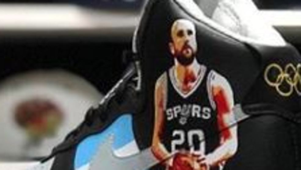 6d57cdc5135 Wow! Check out these incredible custom Manu Ginobili sneakers